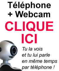 etudiante au tel en webcam